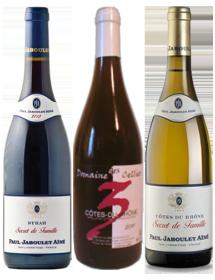 Carton 3 vins cépages de la vallée du Rhône