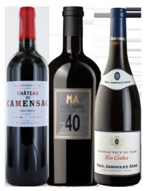Coffret vin anniversaire 1966 1976 1986 3 bouteilles