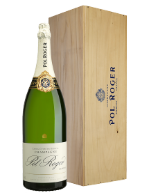 Champagne Pol Roger Brut Jéroboam 3 litres - Caisse Bois d'origine d'1 Jéroboam