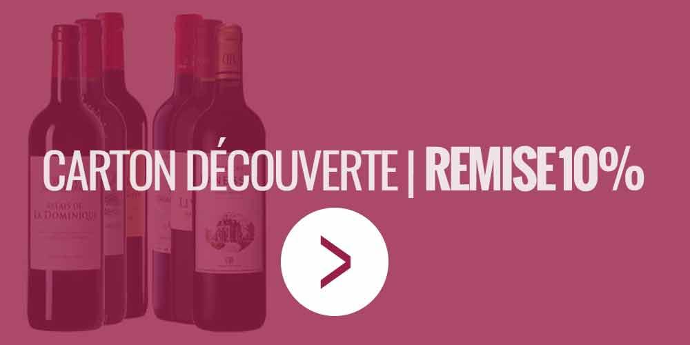Remise 10% sur le carton découverte 6 bouteilles crus bourgeois et seconds vins