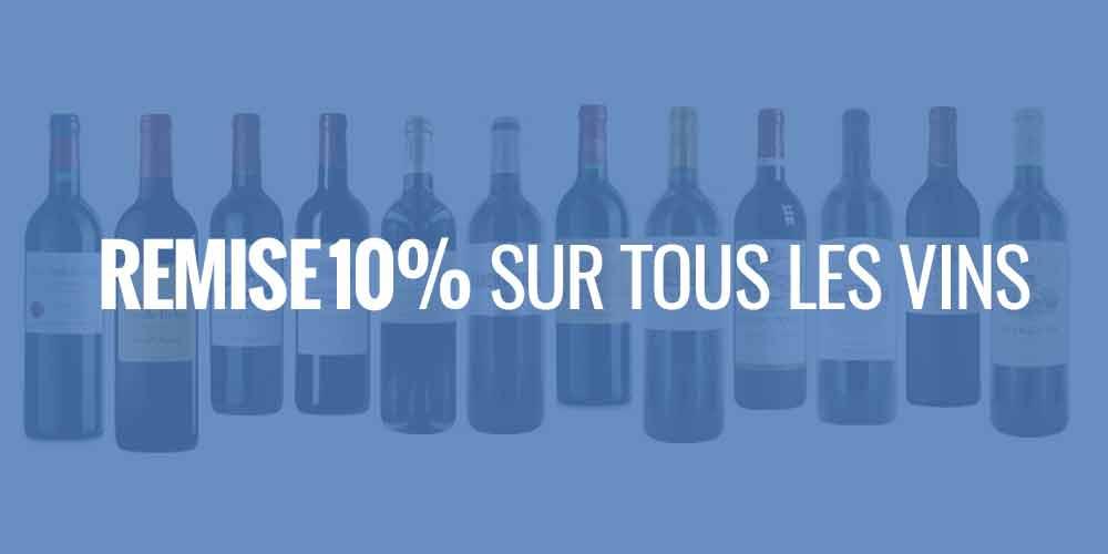 Remise 10% sur tous les vins de Bordeaux Crus Bourgeois et Seconds Vins
