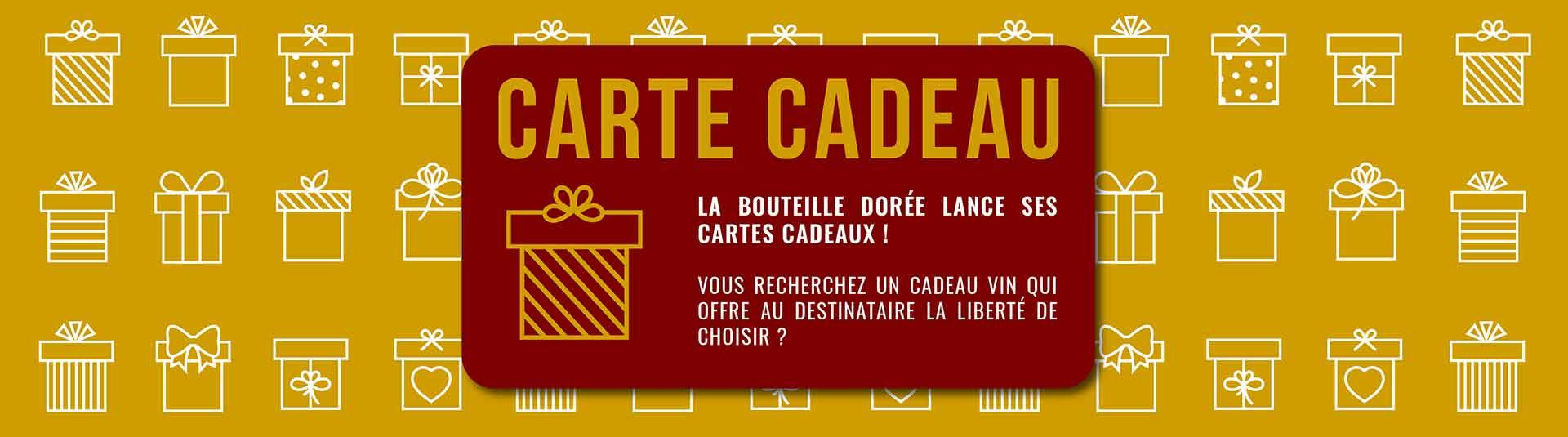 Cartes cadeaux vins et chèques cadeaux vins La Bouteille Dorée