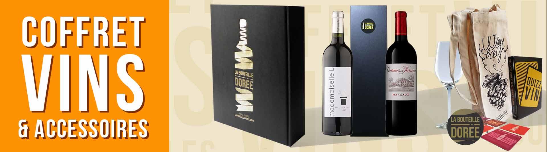 Coffret vin 2 bouteilles Bordeaux + Accessoires