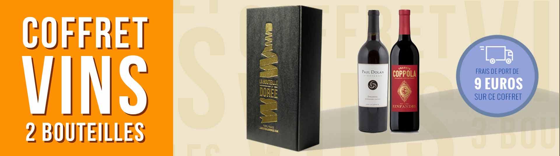 Coffret vin USA Zinfandel 2 bouteilles