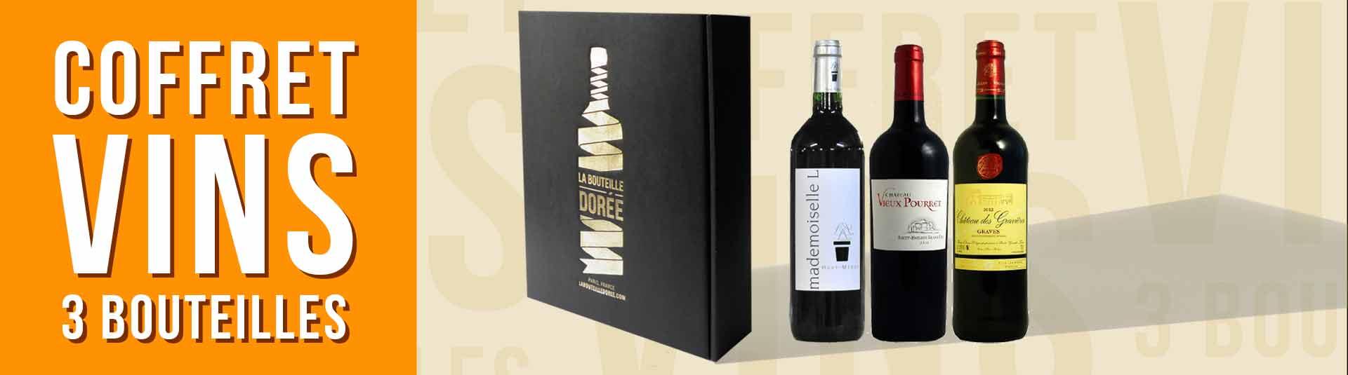 Coffret vin Bordeaux Découverte 3 bouteilles