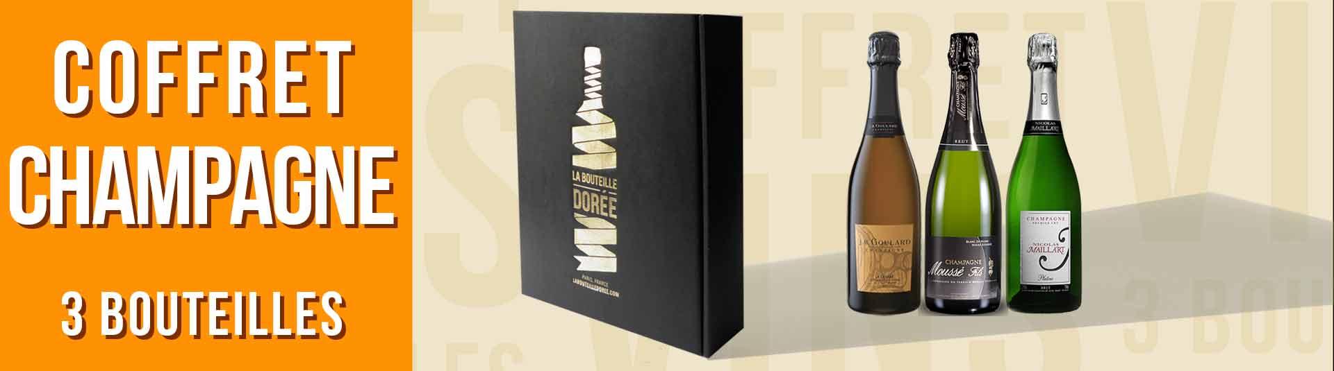 Coffret Champagne Blanc de noirs 3 bouteilles