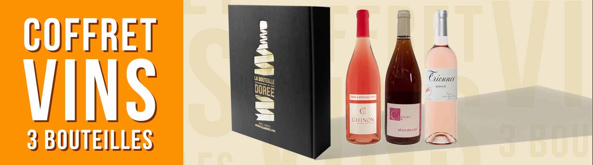 coffret vin 3 bouteilles rosés de France