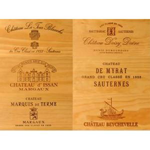 vins en caisses bois