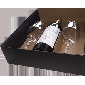 coffrets cadeaux vins avec verres de dégustation