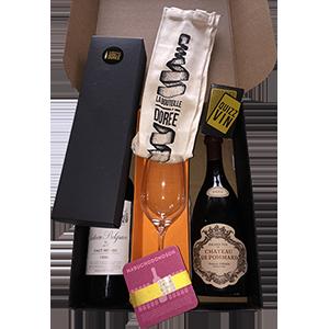 coffrets cadeaux vins avec accessoires surprises