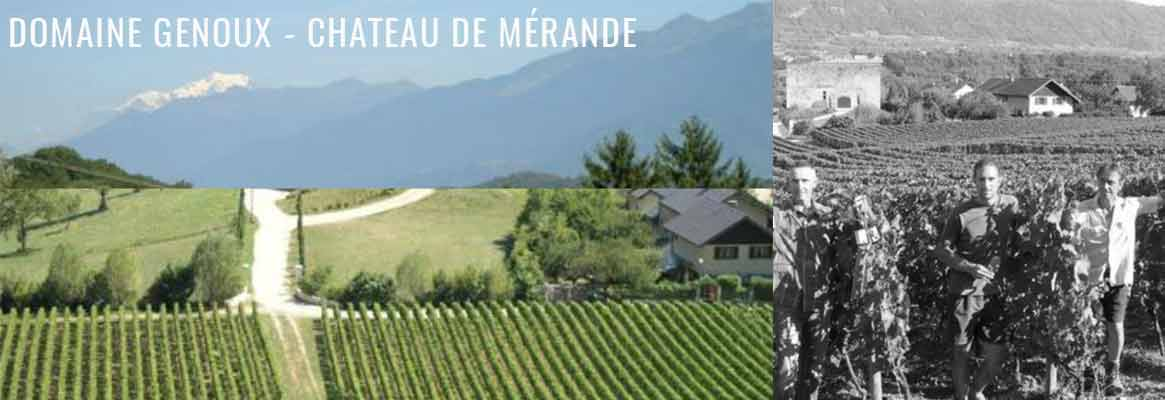 Domaine Genoux Château de Mérande, vins de Savoie en agriculture biologique et biodynamie