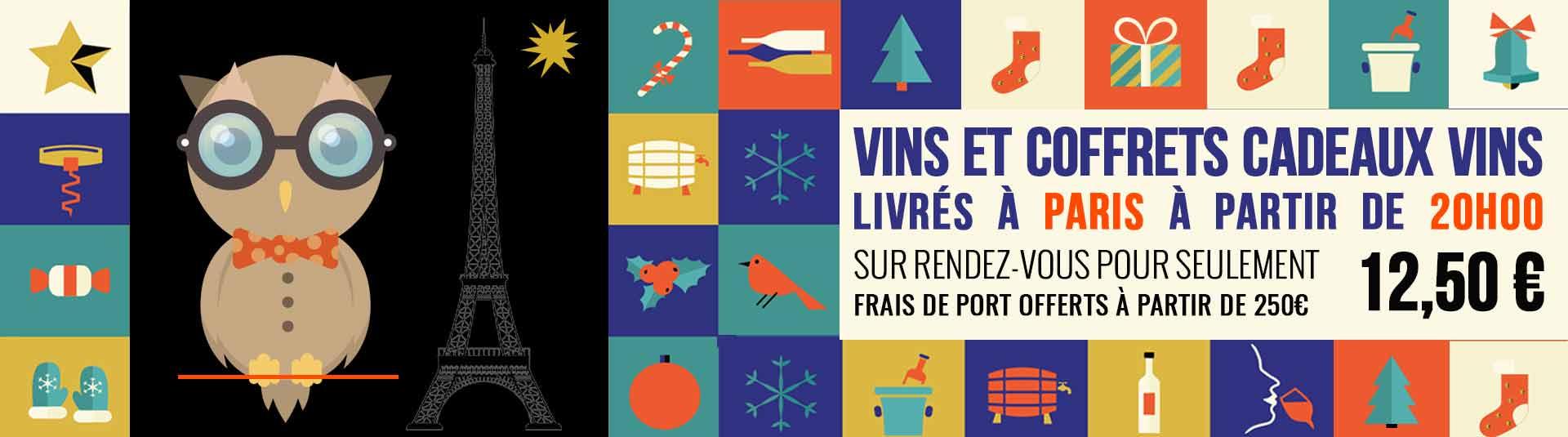 Livraison vin et cadeau vin à Paris en soirée