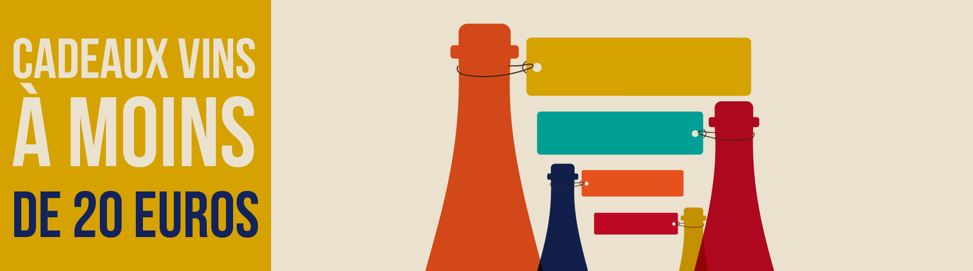 Cadeaux vins à moins de 20 euros