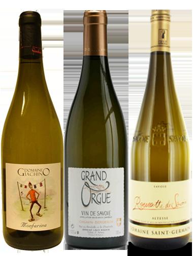 carton découverte 3 bouteilles vin Savoie