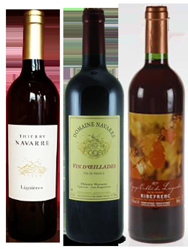 Coffret vin cépages rares 3 bouteilles