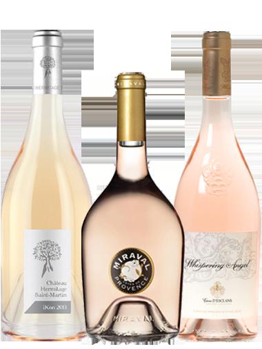 carton découverte 3 bouteilles vins rosés