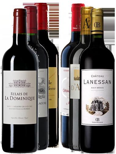 Pack 6 bouteilles Bordeaux Crus Bourgeois et Seconds Vins