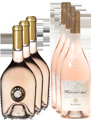 carton découverte 6 bouteilles vins rosés