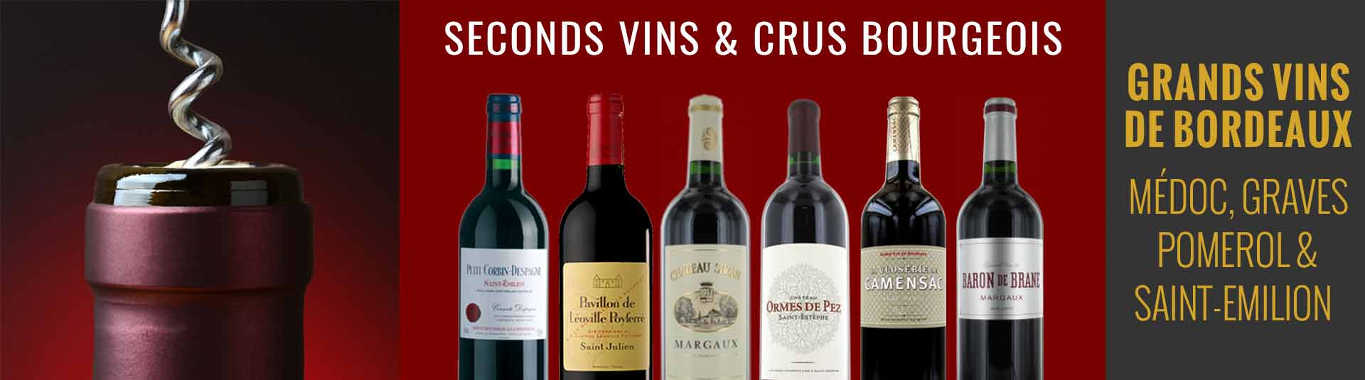 Seconds vins et Cru Bourgeois - Grands vins de Bordeaux