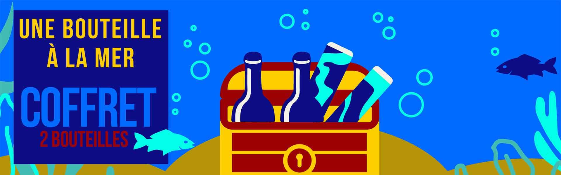 Coffret 2 bouteilles - Vin vieill sous la mer
