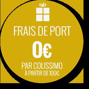 frais de port offerts à partir de 100 euros de commande