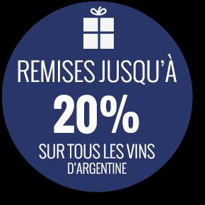 Remises jusqu'à 20% sur tous les vins argentins