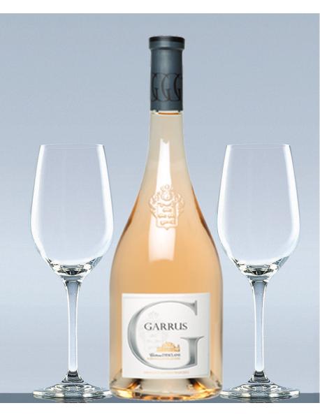 Coffret Garrus rosé et 2 verres de dégustation