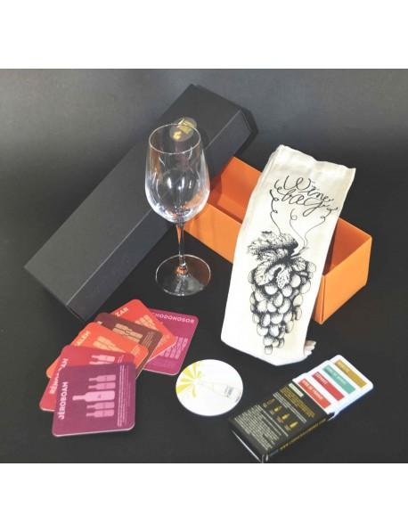 Boite d'accessoires surprises autour du vin