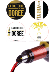 Boite d'accessoires surprises autour du vin conçus par La Bouteille Dorée