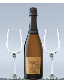 Coffret Champagne Blanc de noirs et 2 verres de dégustation