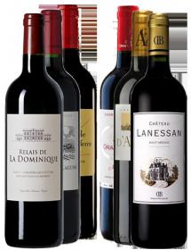 Carton découverte vin Bordeaux Crus Bourgeois et Seconds vins 6 bouteilles