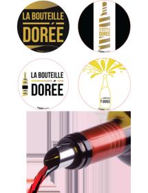Boite d'accessoires anniversaire autour du vin conçus par La Bouteille Dorée