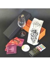 Boite d'accessoires anniversaire autour du vin