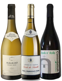Coffret vin blanc cépages Albarino, Rolle, Viognier 3 bouteilles