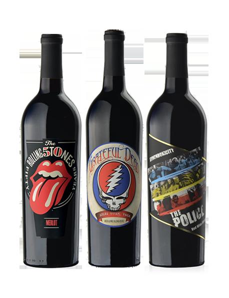 Coffret vin Rock rouge 3 bouteilles