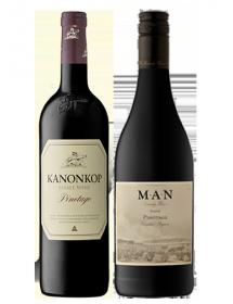 Coffret vin rouge Afrique du Sud cépage Pinotage 2 bouteilles