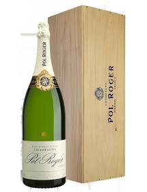 Champagne Pol Roger Brut Balthazar 12 litres - Caisse Bois d'origine d'1 Salmanazar