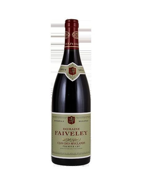 Domaine Faiveley Mercurey 1er Cru Clos des Myglands Monopole Rouge 2014 Mathusalem 6 litres - Caisse Bois d'origine