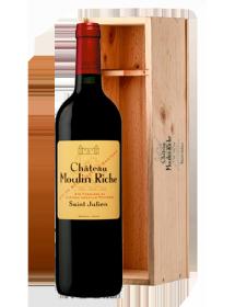 Château Moulin Riche Saint-Julien Rouge 2005 Double-Magnum 3 litres - Caisse Bois d'origine d'1 Double-Magnum