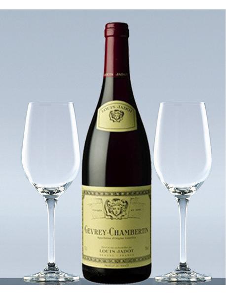 Coffret vin millésime 2001 Bourgogne Rouge et 2 verres de dégustation