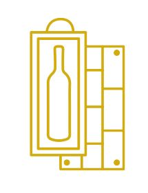 Clos Triguedina Cahors 1978- Caisse Bois d'origine d'1 bouteille
