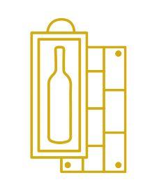 Château La Lagune Haut-Médoc 3ème Grand Cru Classé 1975 - Caisse Bois d'origine d'1 bouteille