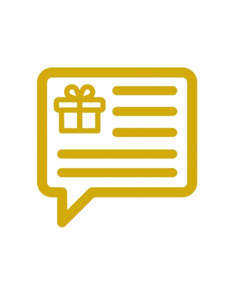 Carte message à joindre à votre cadeau