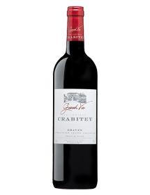 Château Crabitey Graves Rouge 2015 Impériale  6 litres - Caisse Bois d'origine d'1 Impériale