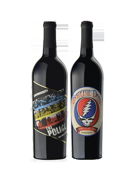 Coffret vin Rock rouge 2 bouteilles