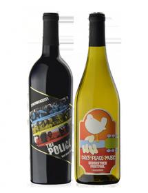 Coffret vin Rock rouge et blanc 2 bouteilles