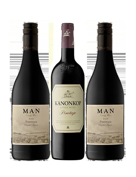 Coffret vin rouge Afrique du Sud cépage Pinotage 3 bouteilles