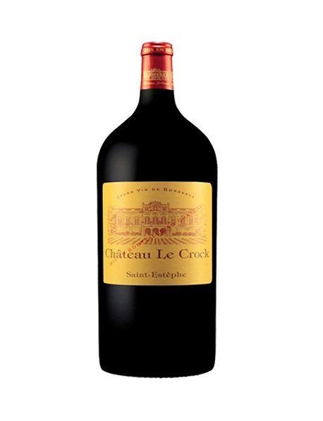 Château Le Crock Saint-Estèphe Rouge 2012 Impériale 6 litres - Caisse Bois d'origine d'1 Impériale