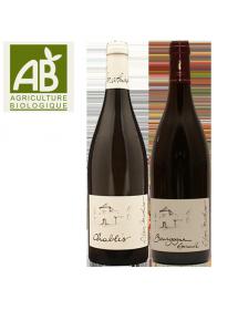 Coffret vin Bourgogne Agriculture Biologique 2 bouteilles