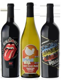 Coffret vin Rock rouge et blanc 3 bouteilles